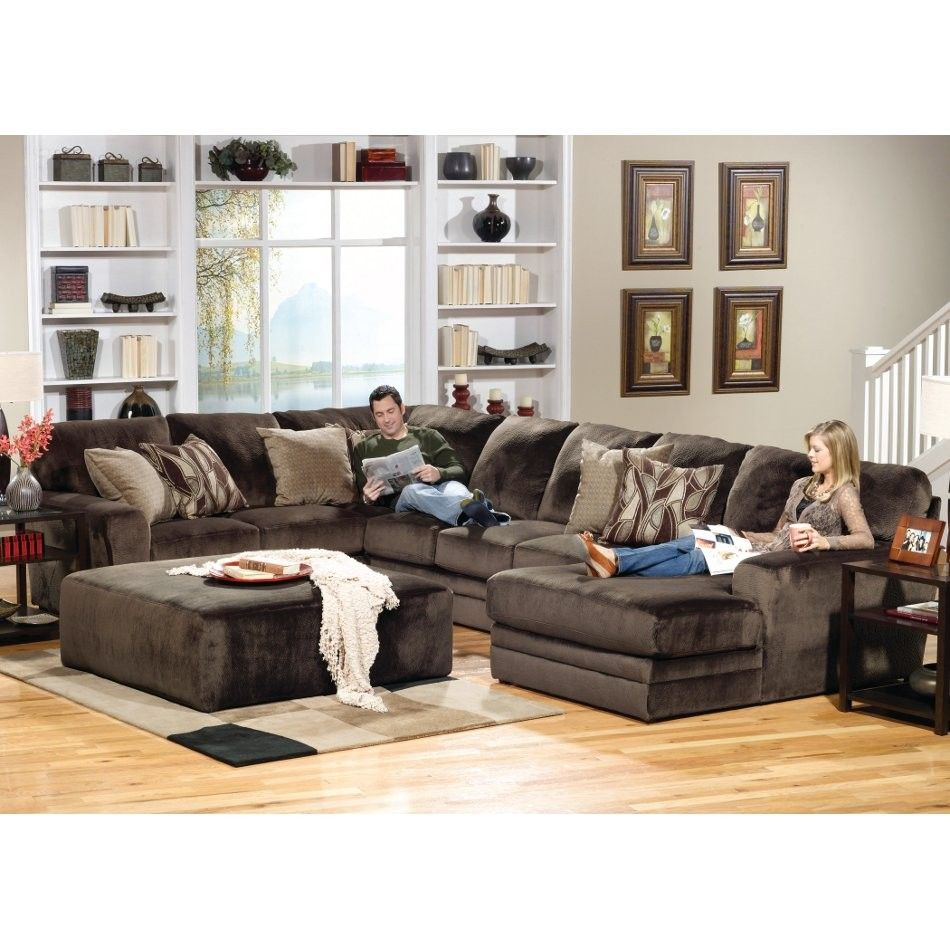 Everest Living Room Sectional Piece | Right Side Facing Chaise   Brown  (437762) |
