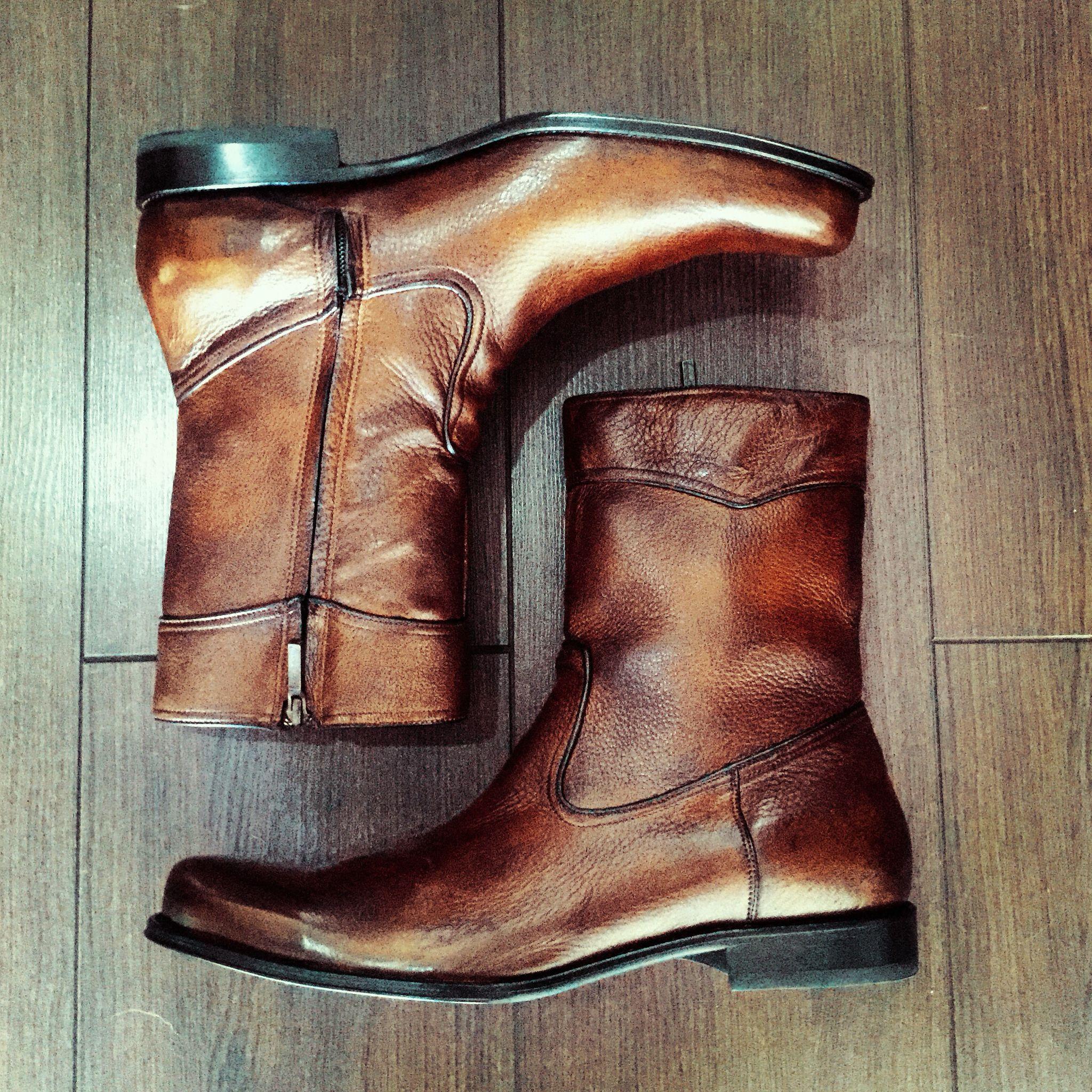 901bd150e43 Franco Cuadra botas de venado en color almendra.