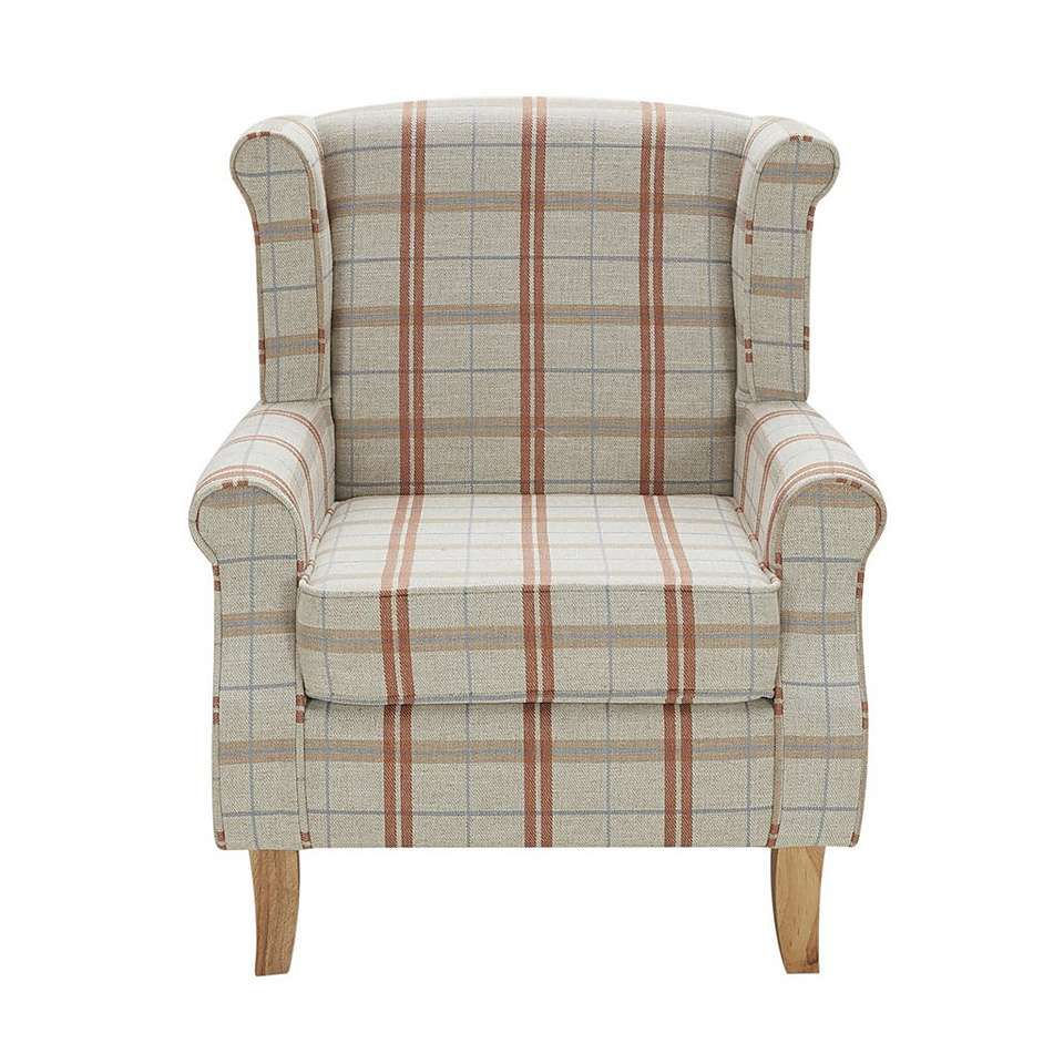 Dark Check Edinburgh Wingback Chair Dunelm Wingbackchair Wingback Chair Chair Comfortable Living Room Chairs