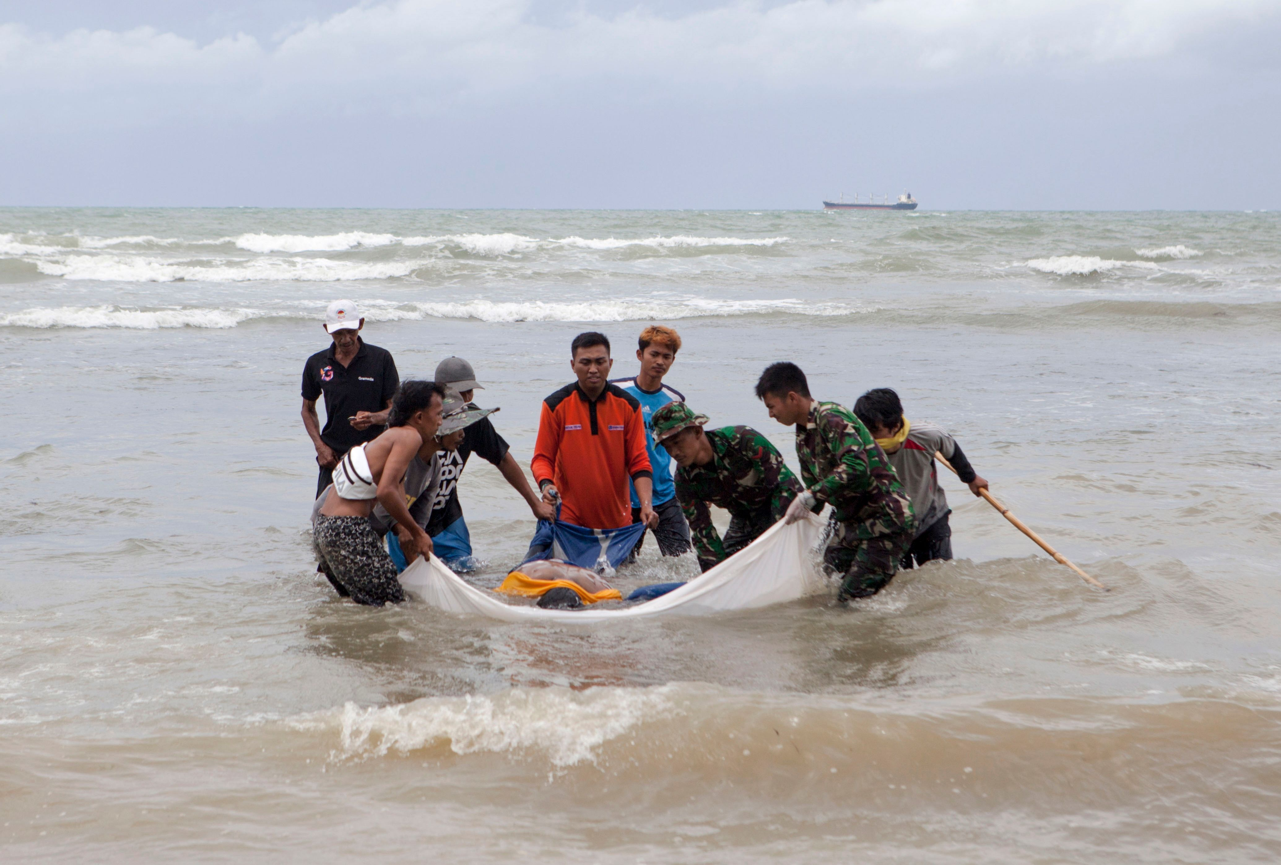 Indonesia's tsunami on Saturday, which killed at least 373