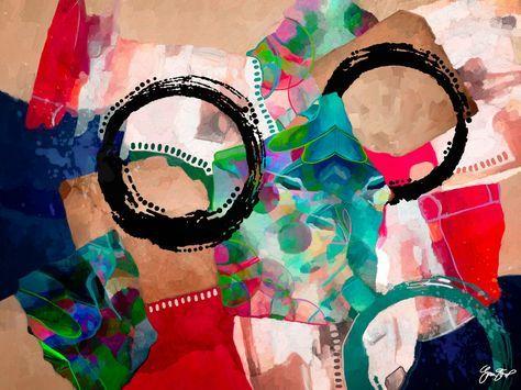 Mixed media abstract art by GinaStartup
