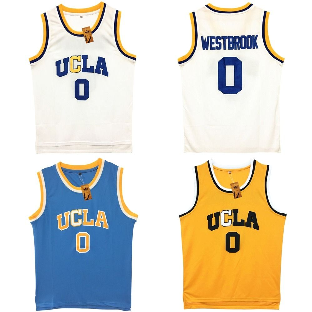 san francisco 11864 9f84c Mens Russell Westbrook UCLA Bruins Blue Stitched Basketball ...