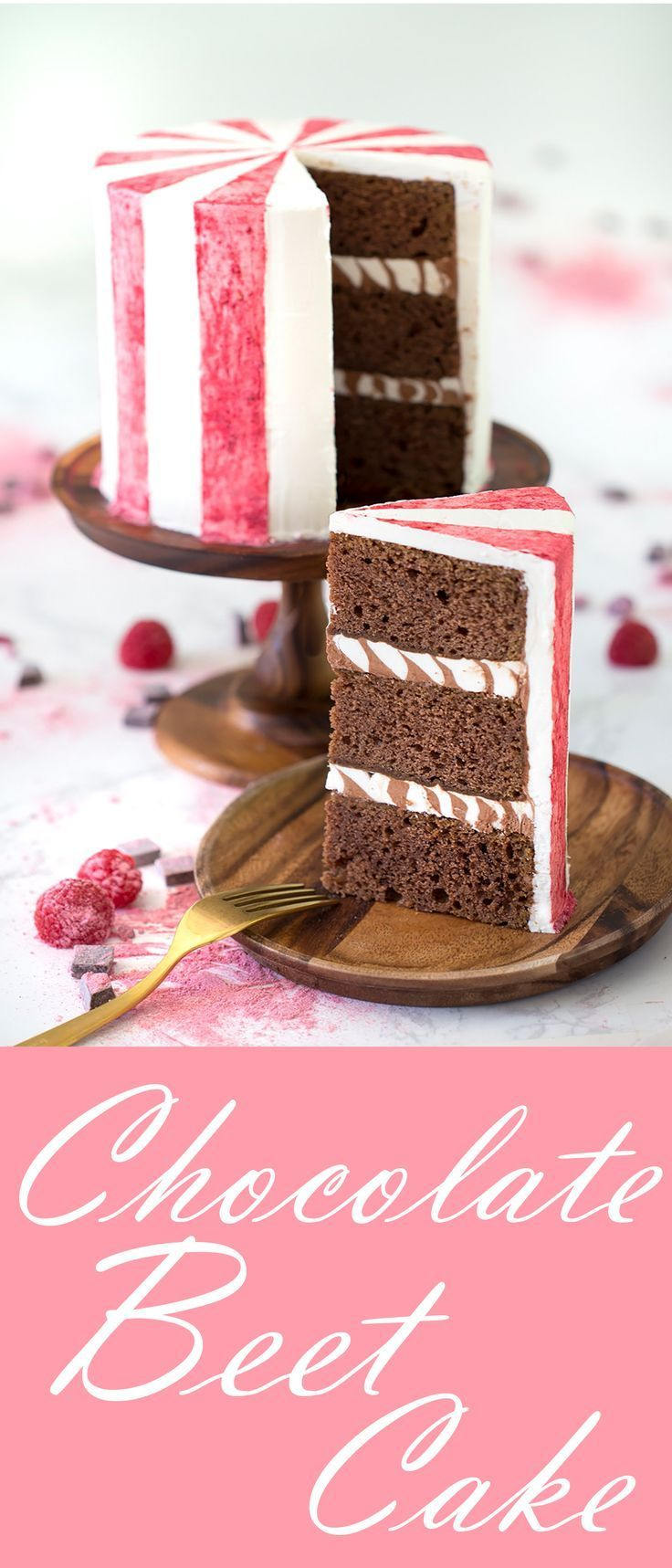 Chocolate cake made with beets the beets add color and