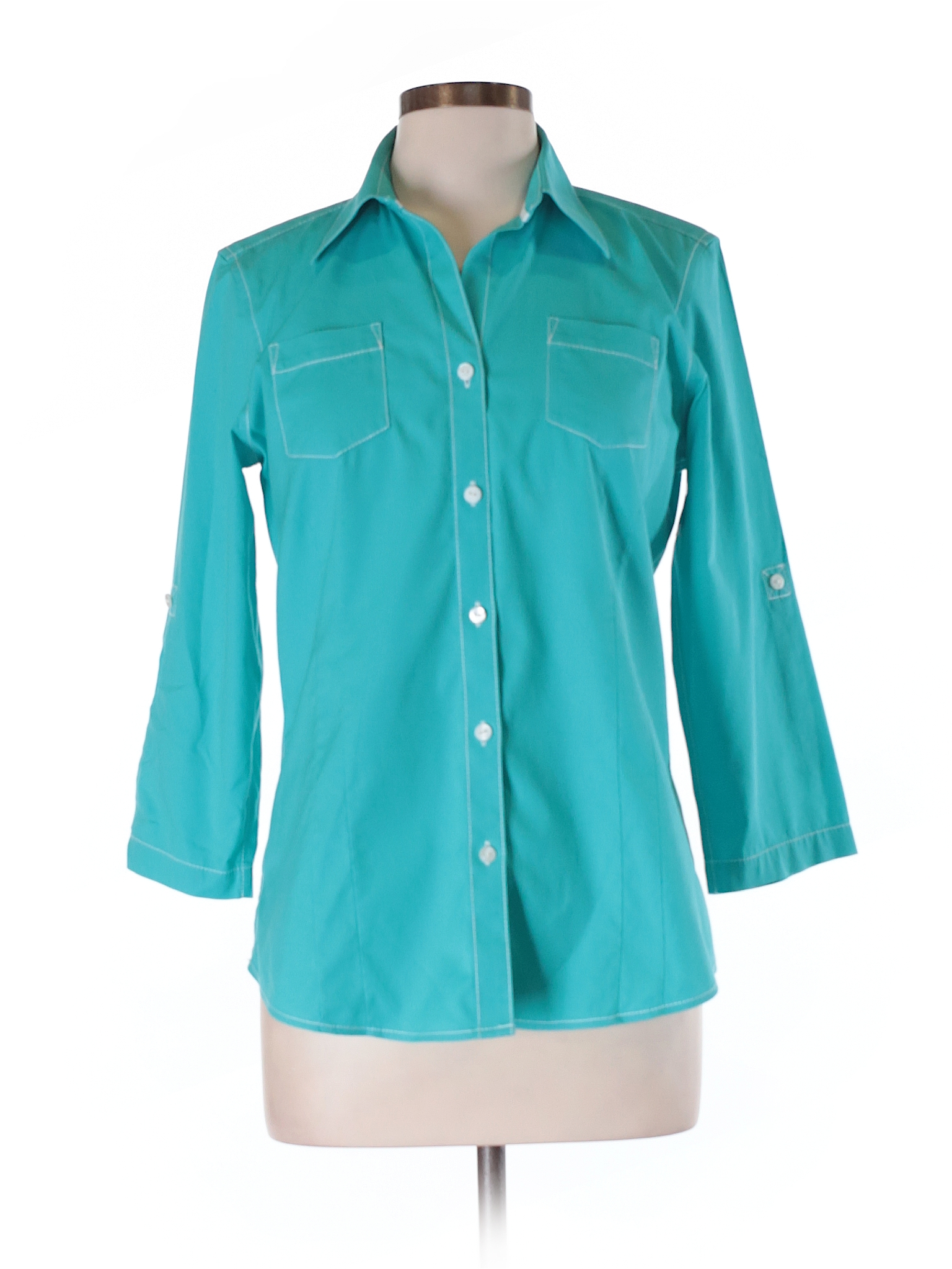 7b30fff2 Womens Teal Button Down Shirt – EDGE Engineering and Consulting Limited
