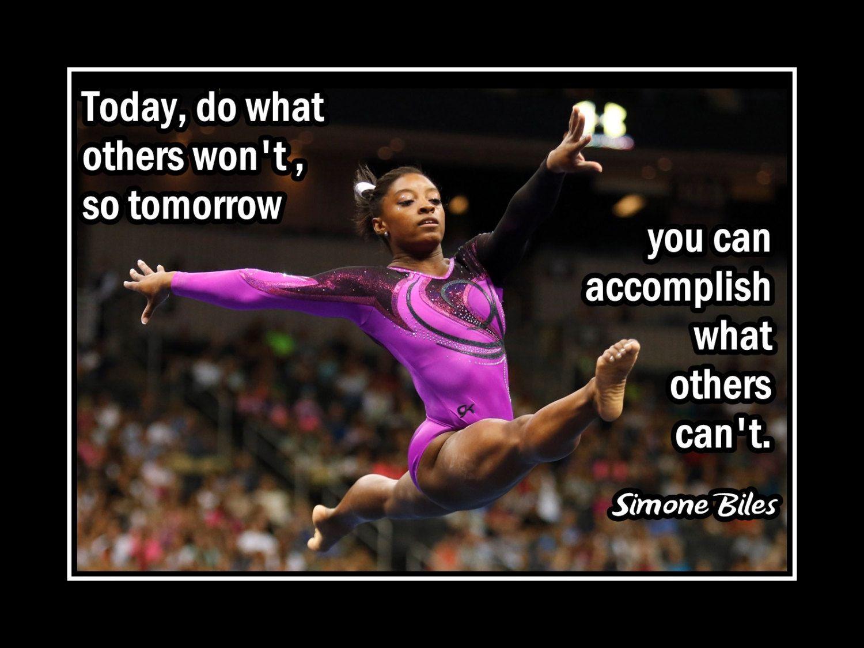c14094d176c6f Gymnastics Motivation Poster Simone Biles Gymnast Photo Quote Wall Art Print …