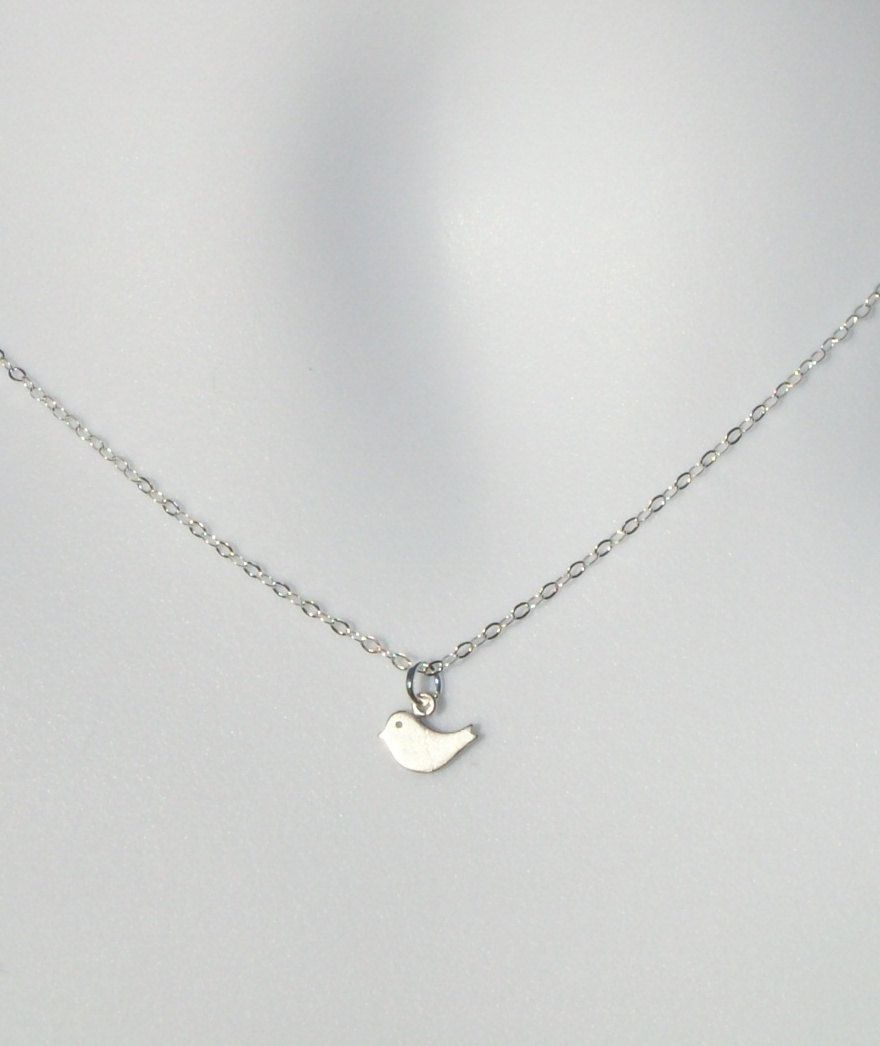 plated necklace gold robin rose bird silver