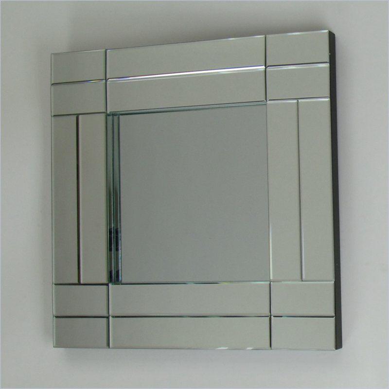 Wayborn Square Pine Wood Beveled Mirror - MR321 - Lowest price online on all Wayborn Square Pine Wood Beveled Mirror - MR321