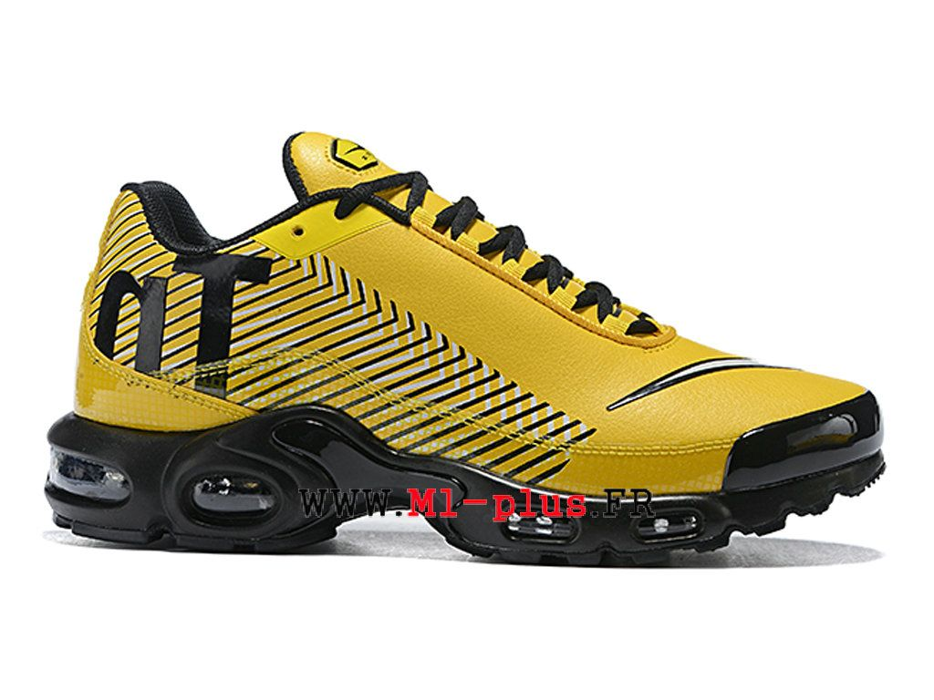save off c38dc 905d9 Nike Air Max Plus Mercurial TN Ultra SE 2019 Officiel Chaussures de basket  Homme Jaune noir