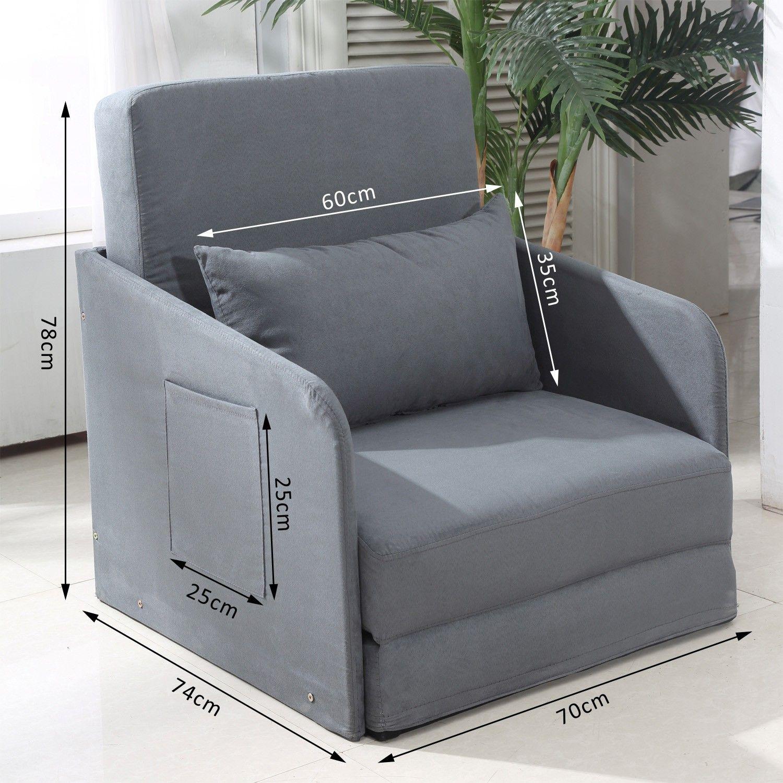Homcom Faux Suede Sofa Bed Armchair