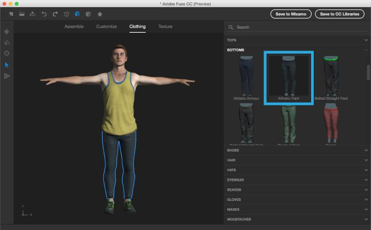Create a 3D character with Adobe Fuse CC