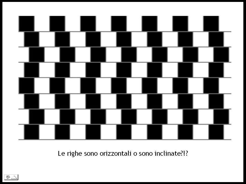 In realtà le righe sono tutte orizzontali