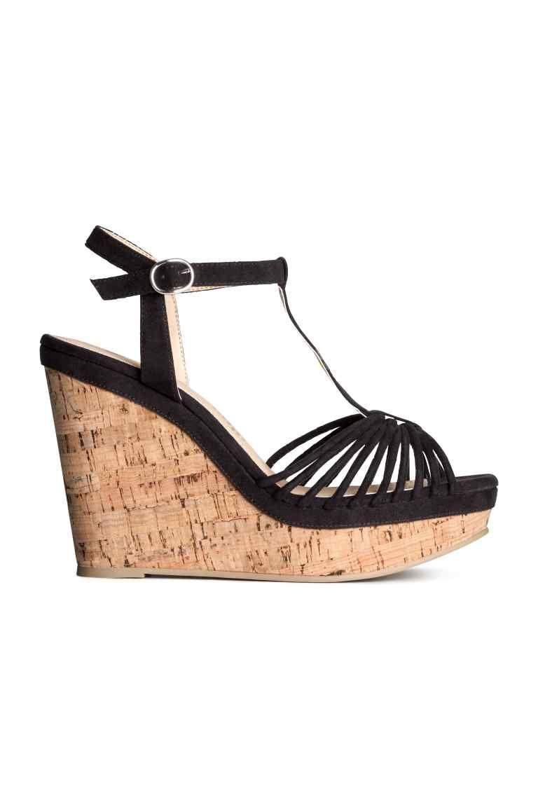 a83e09237693ea Sandalettes à talon compensé   H&M   chaussure   Talons compensés ...