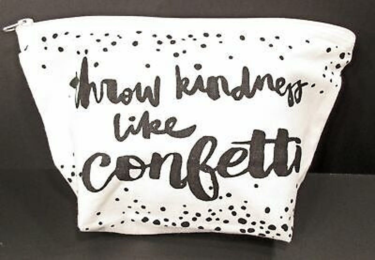 Throw Kindness like Confetti Make-Up Bag #throwkindnessaroundlikeconfetti Throw Kindness like Confetti Make-Up Bag #throwkindnessaroundlikeconfetti