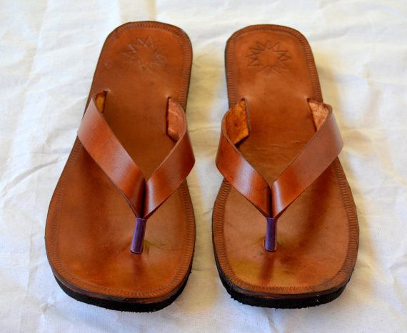 Moroccan Inspired Sling Back Leather Sandals-Handmade Sandals ... 9e809090ce78
