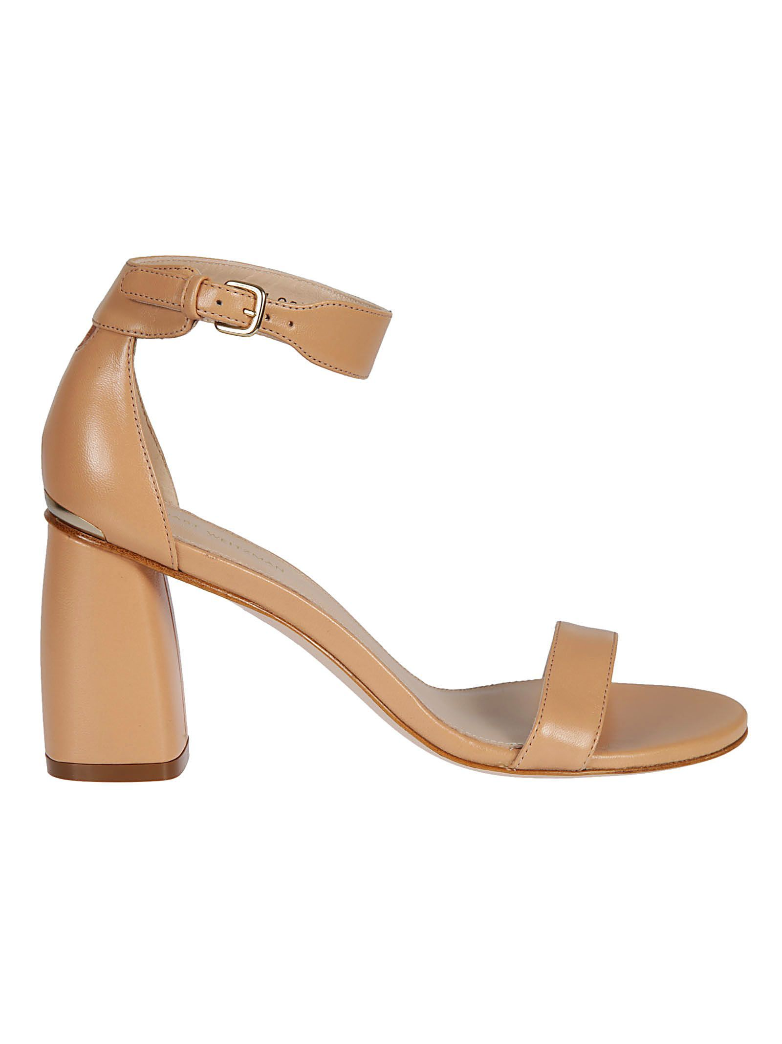 Partlynude Sandals with Mid-Height Heel in Nude Nappa Leather Stuart Weitzman Outlet Popular hq82GOf