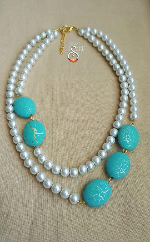 / 50/perlas /turquesa n/ácar