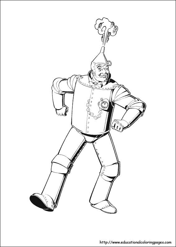 Wizard Of Oz Coloring Pages Free For Kids Wizard Of Oz Color Wizard Of Oz Tin Man