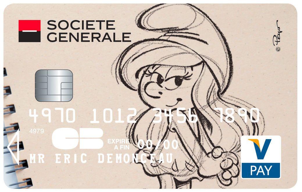 Top Carte #Vpay Schtroumpfette #SocieteGenerale | Cartes Collection  PA08