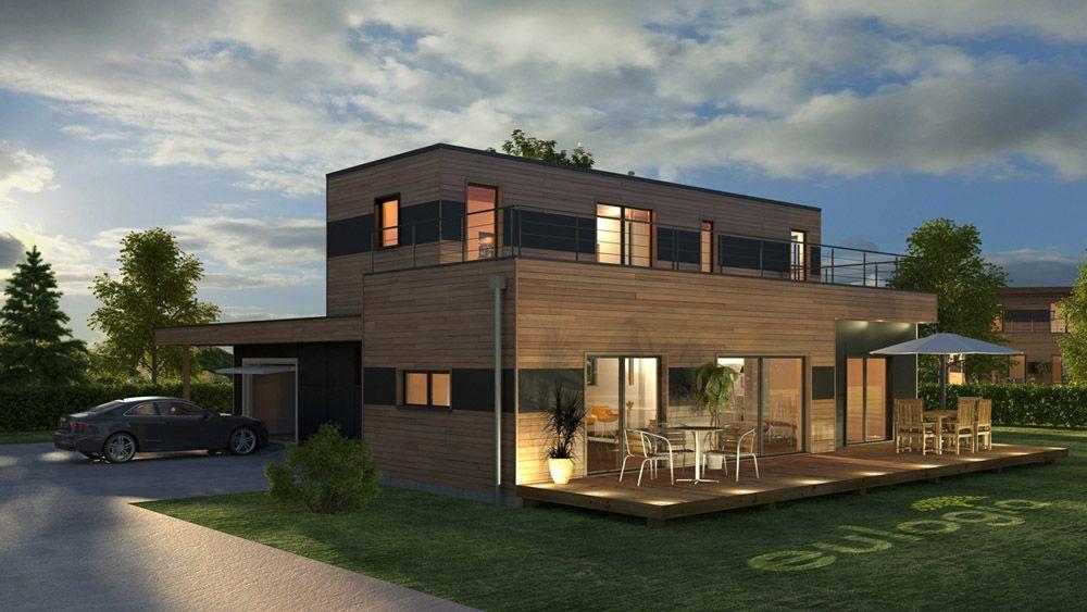 Architecture ext rieur 3d maison bois id es pour for Exterieur maison 3d
