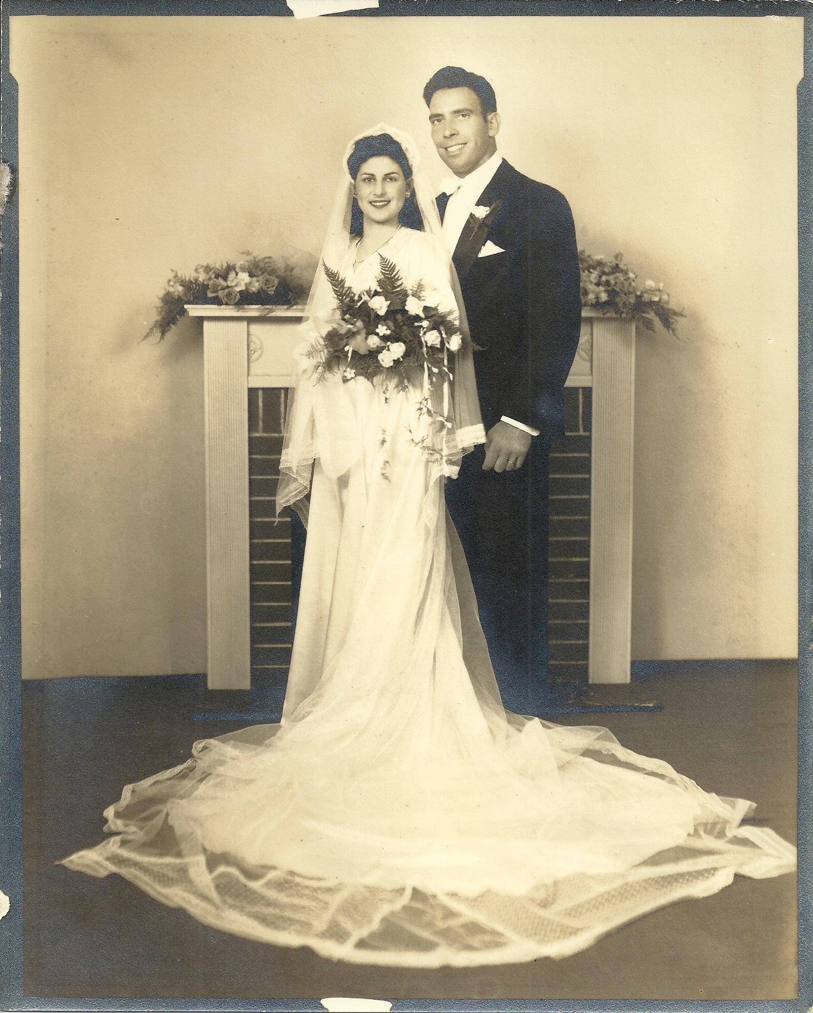 Vintage Wedding Dresses Omaha Ne: My Grandparents On Their Wedding Day 1946