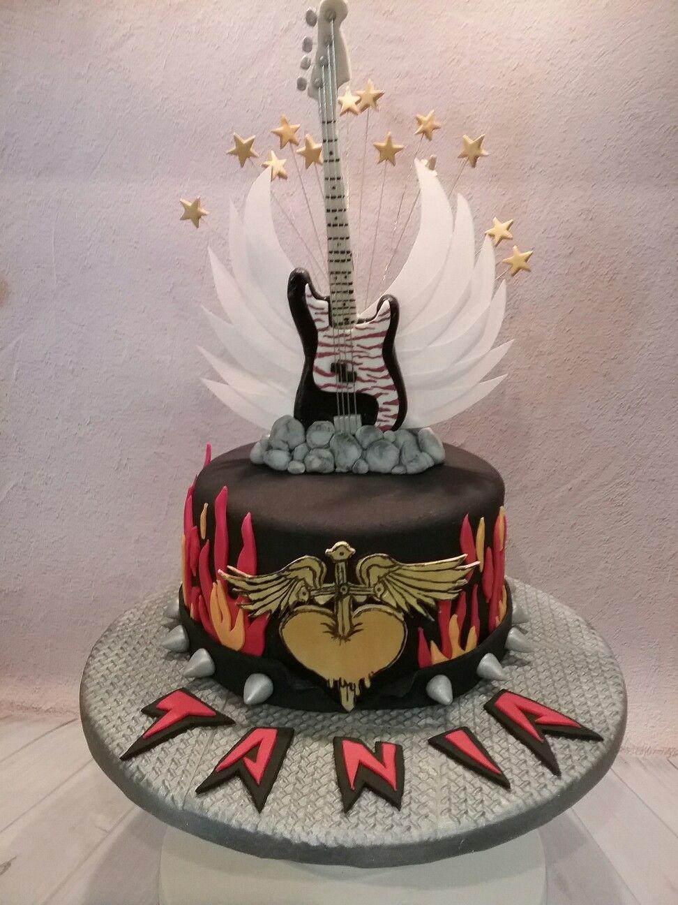 Rock n roll guitar cake by Dimitra Koniosi Markou