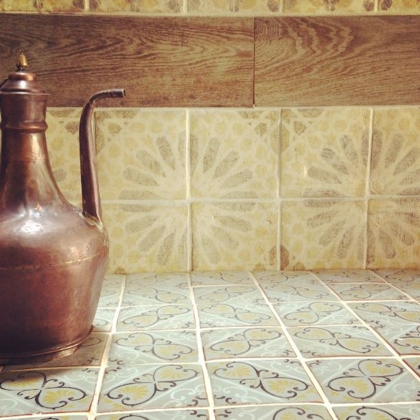 Hand-painted terra cotta deco tiles   Tiles Inspired by Touareg ...
