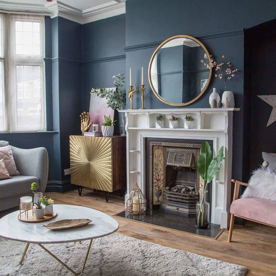 Gold And Grey Living Room Ideas In 2020 Blue Living Room D