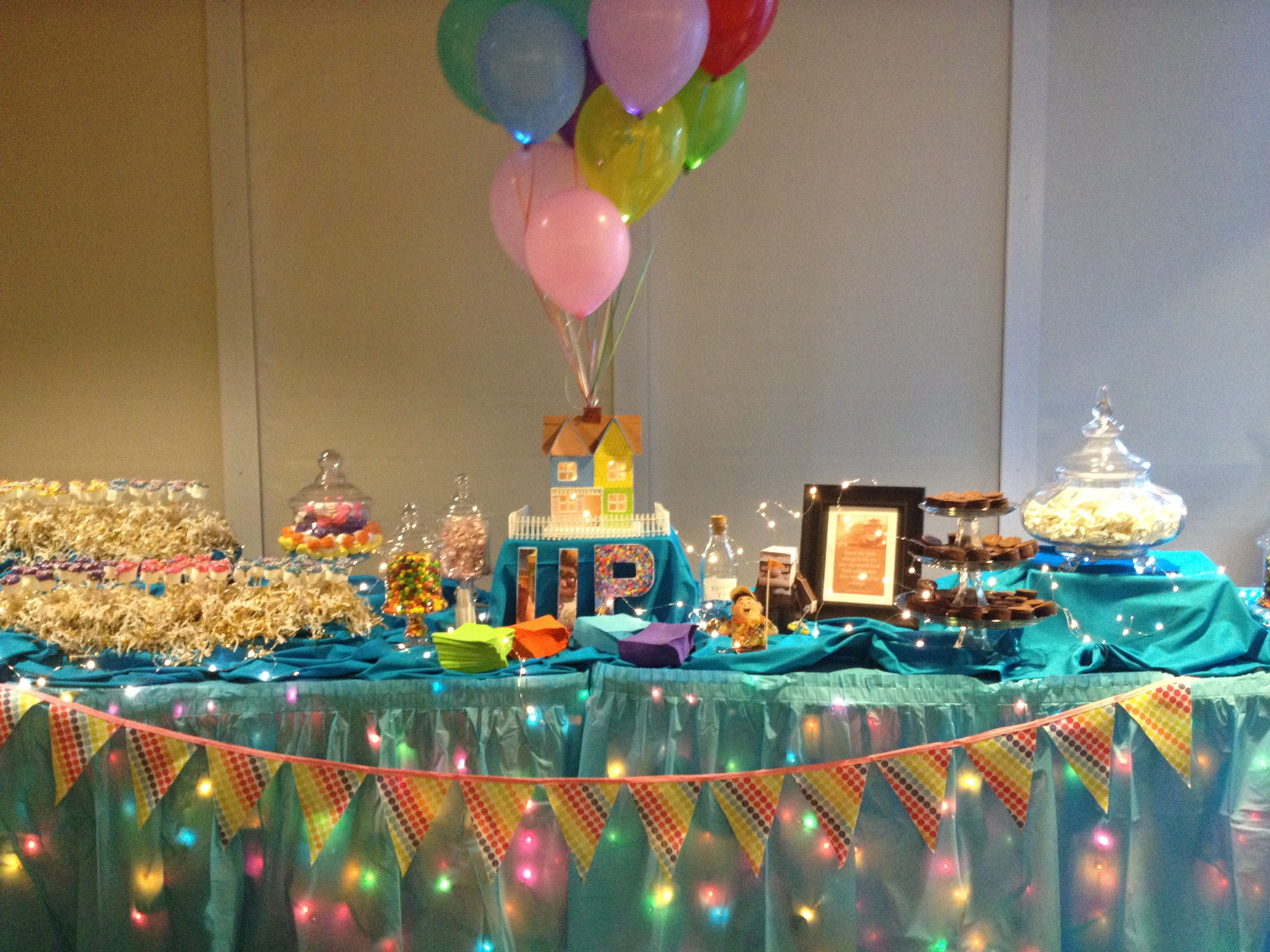 Candy table with theme from Disney Pixar movie UP. Marshmallow ...