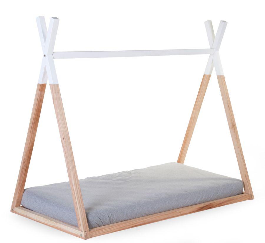 Tipibett/Hausbett für 70x140cm Matratze natur/weiß H 123cm