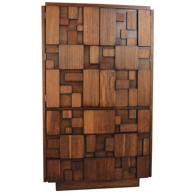 Vintage Mid Century Brutalist Tall Dresser Chest By Lane Dresser Decor Mid Century Furniture Lane Furniture