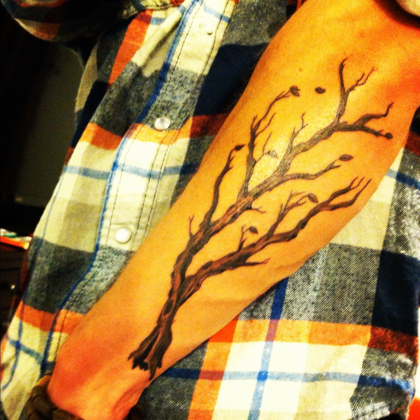 Dead tree branch tattoo tattoos pinterest for Death tree tattoo