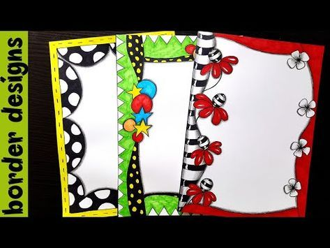 Zenart border designs on paper project work borders for also rh pinterest
