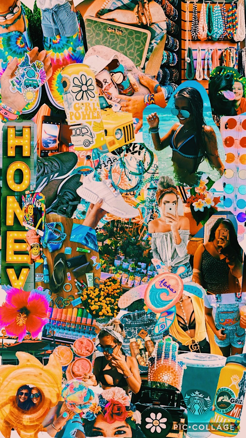 summer inspo☀️🌼💛 Collage background, Cute wallpapers