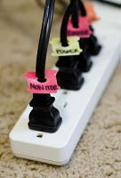 You know how your always wondering what cord goes to what?? well now you can just label them:)