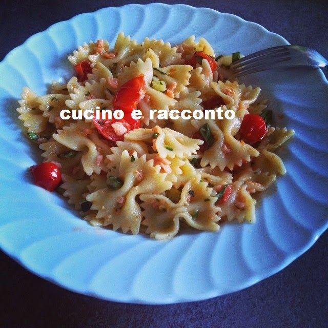 ------------  Cucino e Racconto------------: Farfalle al Salmone Affumicato e Pomodorini