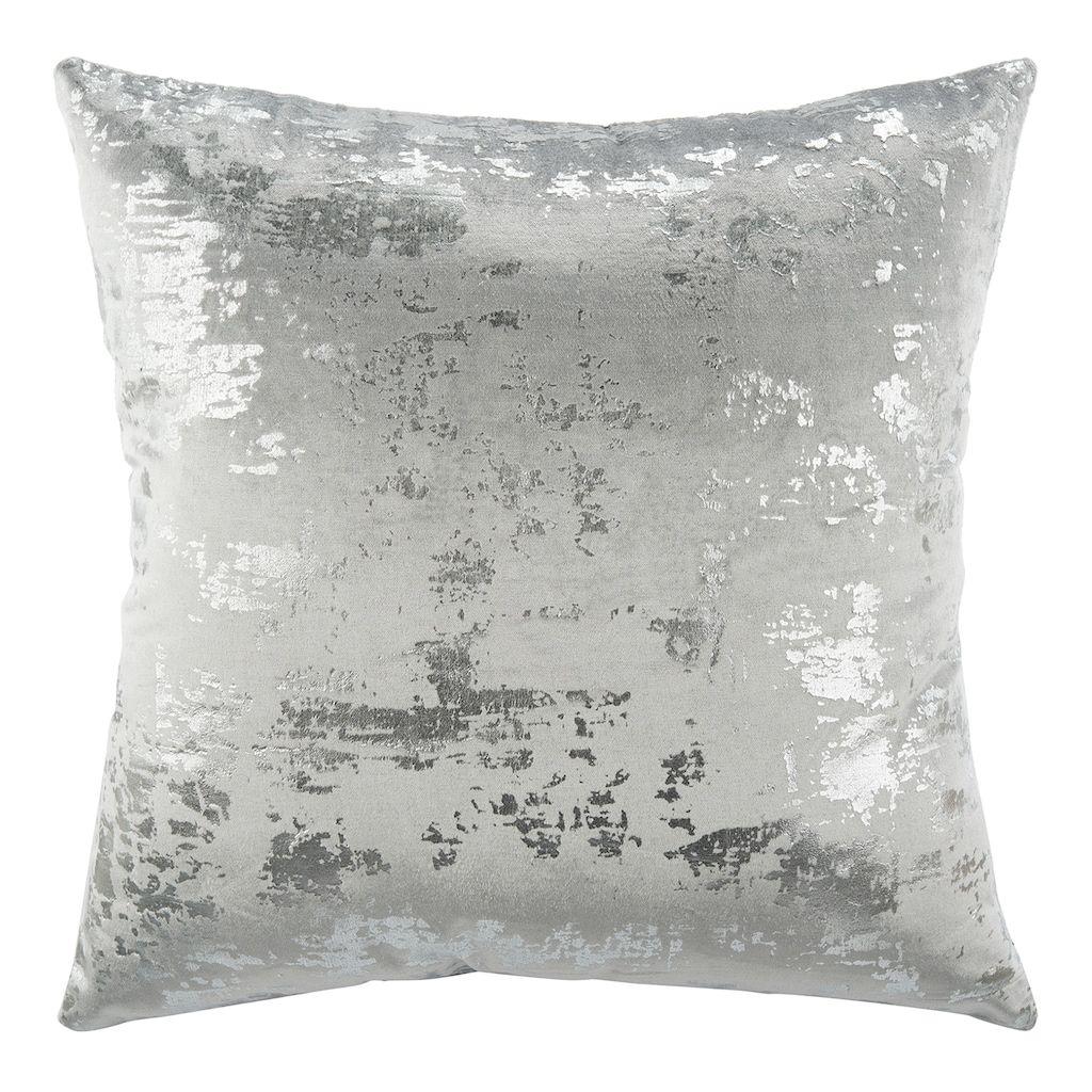 Safavieh Edmee Metallic Throw Pillow In 2020 Metallic Throw Pillow Silver Pillows Metallic Pillow