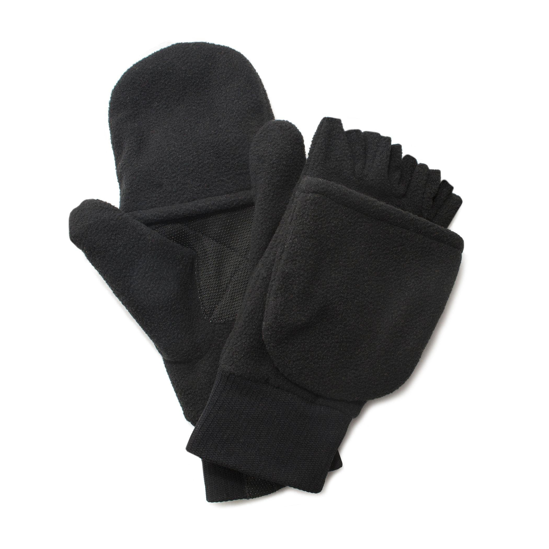 3pk wolverine leather work gloves extra large - Quietwear Fleece Flip Mittens Black Gloves Mittens Collection