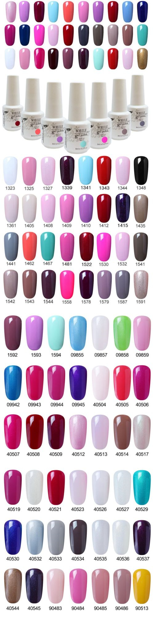 Gel Nails: Nobile 8Ml Soak-Off Uvandled Gel Polish Nail Art Gel Nail ...