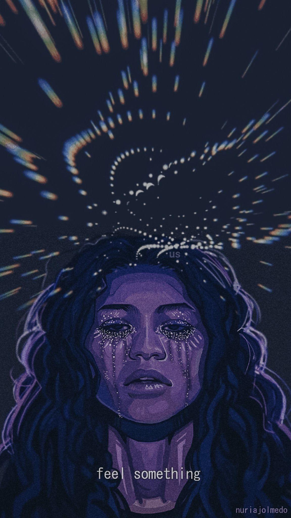 Feel Something Lockscreen By Unlockscreen Euphoria Hbo Purple Aesthetic Art Collage Wall Wall Collage