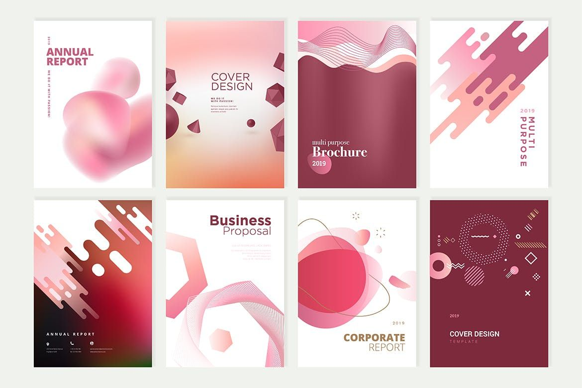 Beauty Brochure, Annual Report, Cover Designs Templates EPS #annualreports