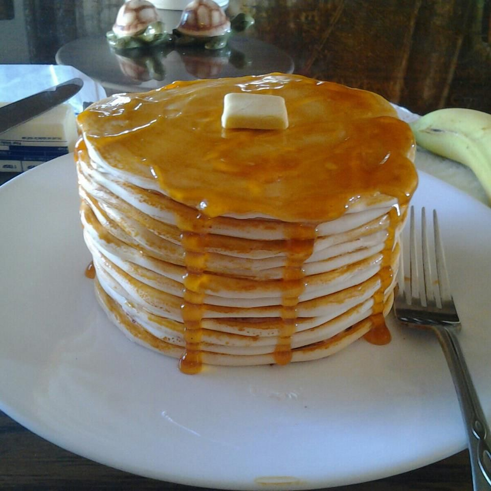 Food Red Velvet cake made to look like pancakes A play on cake
