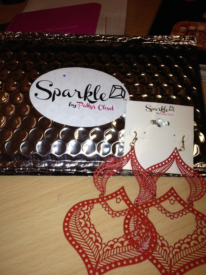 Love these red, statement earrings and they are light weight <3 #sparkle