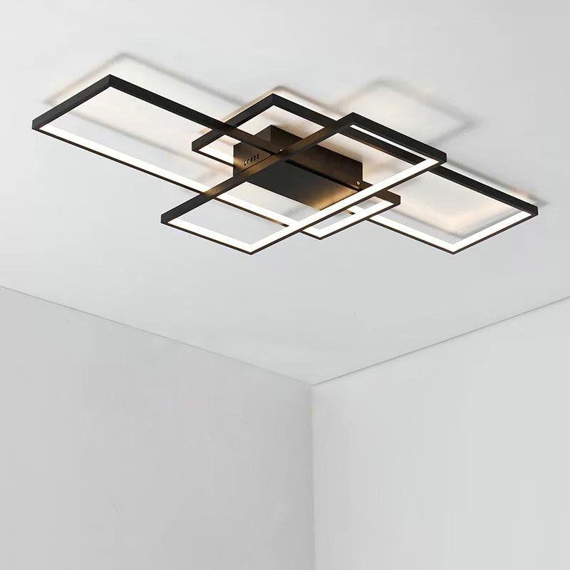 Led Deckenleuchte Eckig Design für Wohnzimmer in 2019 | Lampen ...