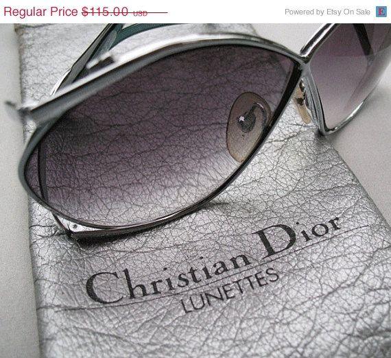 SALE Vintage Christian Dior Designer Silver by bunnystrunkshow, $92.00