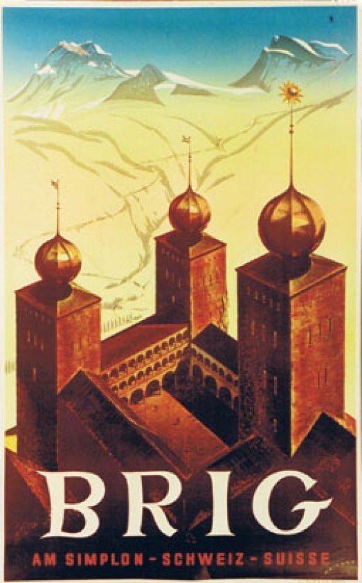 Davos Switzerland 1953 Vintage Poster Art Retro Style Print Travel Decor