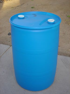 Website That Sells Used Drums 55 Gallon Barrel Drum Closed Top Blue Side View Rain Barrel Rain Barrel System Rain Barrels Diy