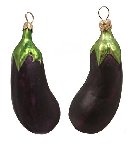 Eggplant Polish Mouth Blown Glass Christmas Ornaments Christmas - polish christmas decorations