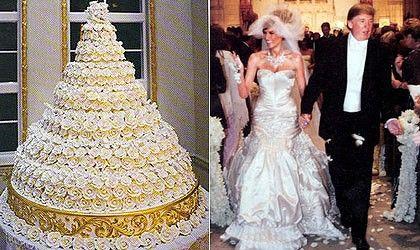 Celebrity Wedding Cakes Photos Takes The Cake Melania And Donald Trump S
