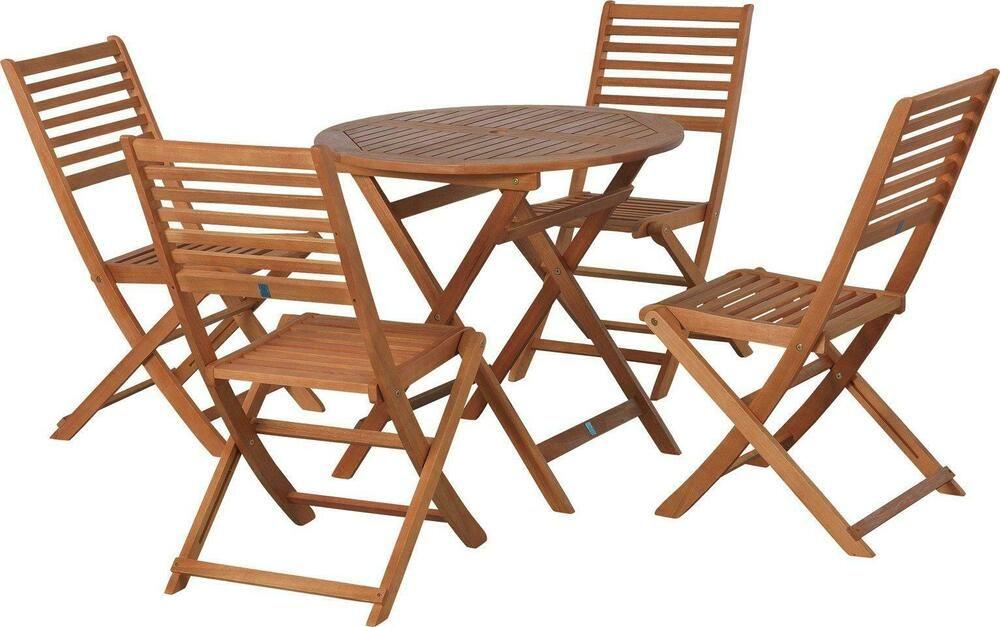 Newbury 4 Seater Wooden Patio Set Garden Furniture Outdoor ...
