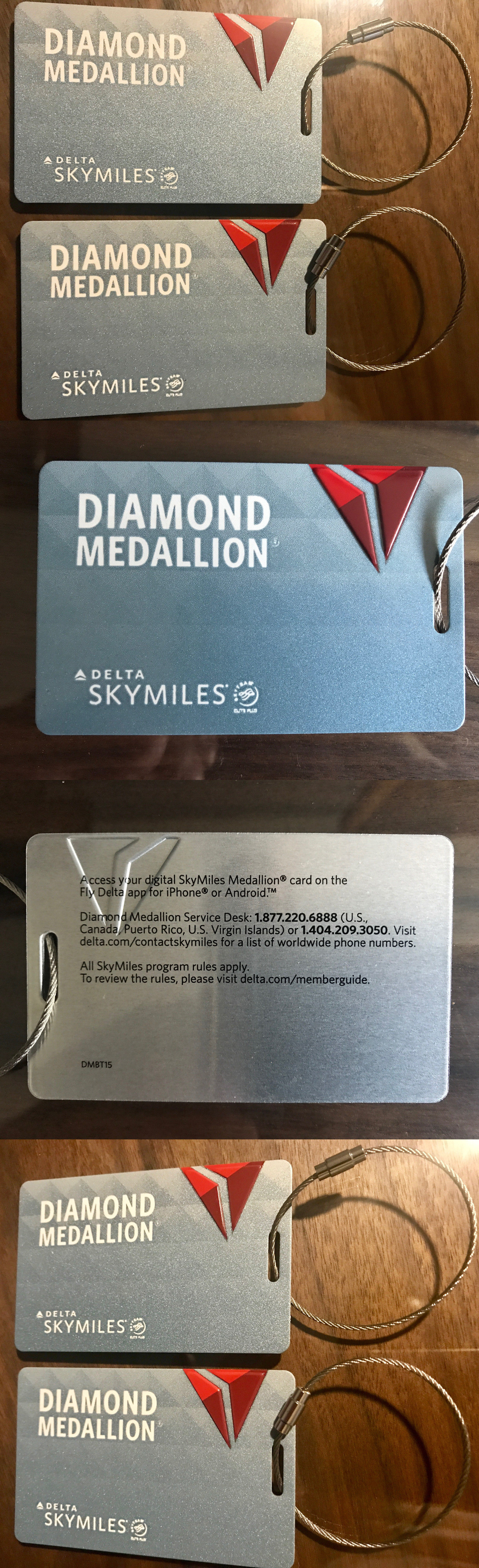 Luggage Tags 164800 New Delta Airlines Metal Diamond Medallion Tag With Loop It Now Only 48 On Ebay Pinterest